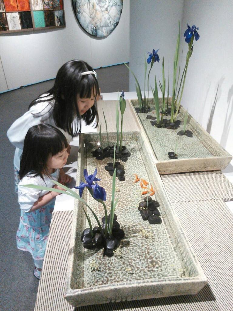 魚道と子ども
